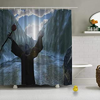 YOLIYANA Moses Parting The Red Sea Shower Curtain peva Shower Curtain,154780,71''Long x 71''Wide