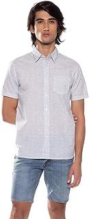 Camisa Levis Short Sleeve Sunset One Pocket Masculino Branco