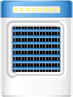 LIUTAO La disipación de Calor del Enfriador de Aire móvil, Aire Acondicionado Mini Air Cooler Enfriador de Aire Interior portátil con 3 Niveles de Potencia y luz LED (Azul)-Azul