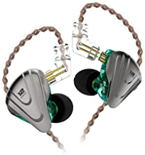 in-Ear Monitors, KZ ZSX 1DD+5BA Hybrid HiFi Stereo Noise Isolating Sport IEM Earphones/Earbuds/Headphones with Detachable Cable for iPhone, iPad, Android, Computer (Without MIC, Cyan)