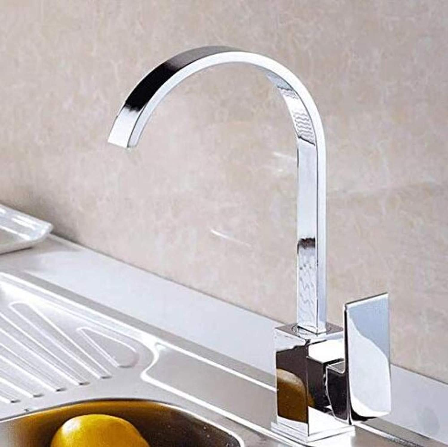 Brass Wall Faucet Chrome Brass Faucettap All Copper Kitchen Faucet Hot and Cold Single Hole redary Tank Faucet Basin Faucet