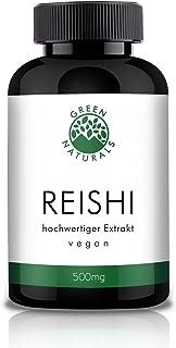 Reishi Extrakt 100 Kapseln á 500mg - deutsche Herstellung - 100% Vegan & Ohne Zusätze - Vorrat für 3 Monate