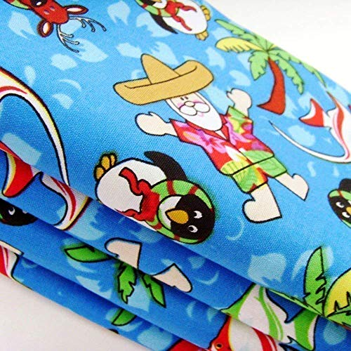 Handmade Tropical Kitschmas Napkins (Set of 4-100% Cotton) ME2Designs Christmas Table Decor