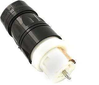 Leviton CS8164C 50Amp, 3-Phase 480V AC, Non-NEMA, 3P, 4W, Black & White Locking Connector, Industrial Grade, Grounding, California-Style(CS) – Black-White