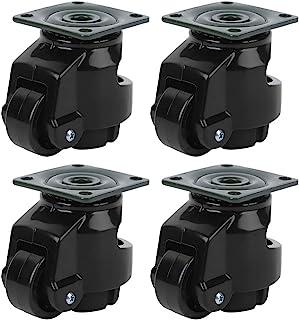 Zwenkwielen, 4 stks Niveauregeling Zware Zwenkwiel Werkbank Zwenkwiel GD ‑ 40F Industriële Roller Wiel Nivellering Zwenkwi...