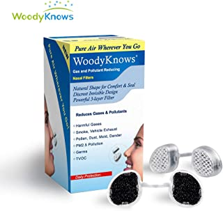 WoodyKnows Serie de Filtros Nasales Súper Defensa para Protección Antialérgica Causada por Polen/Polvo/Caspa/Moho / PM2.5/10