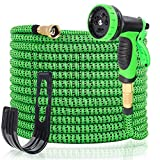 Decoroca 100FT Expandable Garden Hose, Gardening Flexible Hose, Triple Latex Core, Lightweight Water