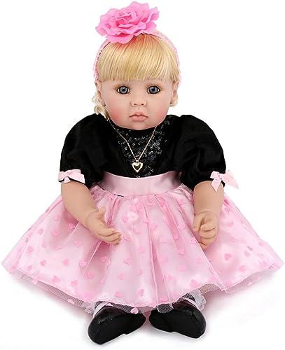 YIHANGG Reborn Baby Simulation Puppe Niedlich Tuch Silikon Weißh Puppe Kind Komfort Schlafen Spielen Partner 22 Zoll Full Alive Kinder Geburtstag
