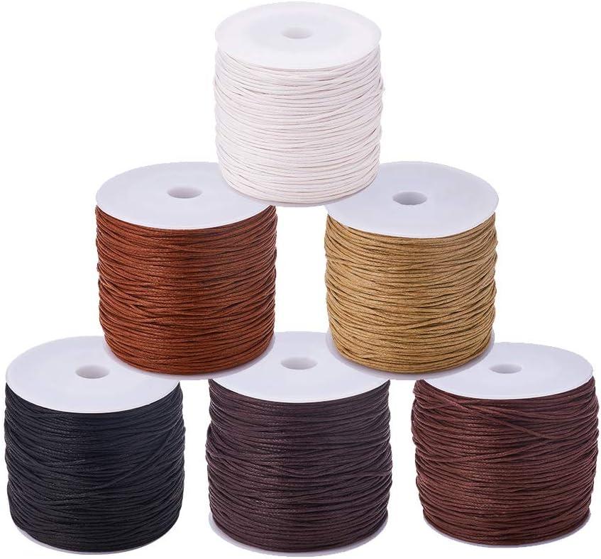 Max 68% OFF Discount is also underway CHGCRAFT 6 Rolls 485 Yards Waxed Cotton Threa Cord