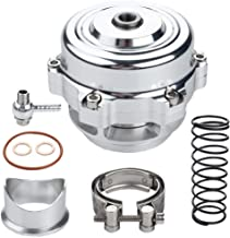 Universal 50mm Blow Off Valve BOV Dump Valve Kit with Spring Aluminum Flange O-ring Clamp(silvery)