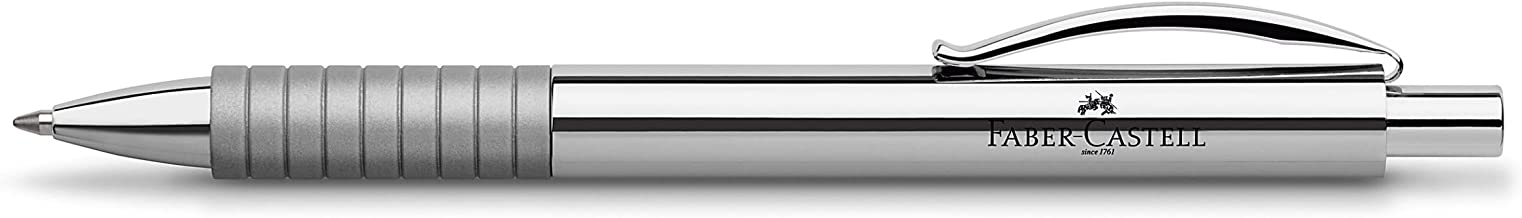 Faber-Castell Basic Ballpoint Pen, Polished Silver (FC148471)