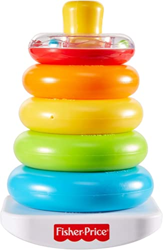 Fisher-Price Rock-a-Stack, Bat-at Ring-Stacking Toy for Infants Ages 6 Months and Older