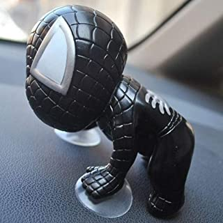 Tidoom Car Window Suction Cup Spider Man Toys Figure Car Home Office Decoration Grown-Up Action Toy for Kids Adults Black 2pcs
