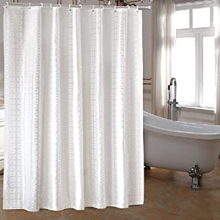 Ufaitheart Extra Long Fabric Shower Curtain 72 X 84 Inch Heavy Duty For