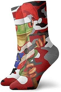 Kevin-Shop, Negro Blanco Rojo Camuflaje Calcetines navideños Calcetines Casuales y acogedores para Hombres, Mujeres, niños
