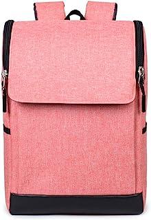 PANFU-AU Retro Simple Small Backpack Bag Laptops Notebook Bag (Color : Pink)