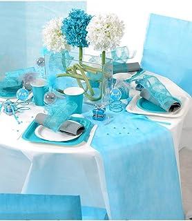 Dragée d'amour Chemin de Table fête 30cmx10m (Turquoise)