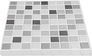 FECAMOS Papier Peint Auto-adhésif stéréo 3D, 10 pièces Autocollant Mural 3D 30 X 30 X 0,4 cm pour Cuisine Salle de Bain, C...