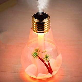 400ML Bulb Essential Oil Diffuser Ultrasonic LED USB Port Plant Tree 3 Colors For Option Aroma Diffuser Difusores Humidifi...