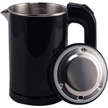 DCIGNA Electric Tea Kettle, 0.5L Stainless Steel Travel Kettle, Portable Hot Water Kettle, Auto Shut-off & Fast Boiling, Dry Protection, Suitable For Coffee, Tea, 110V/800W ( Dark Navy )
