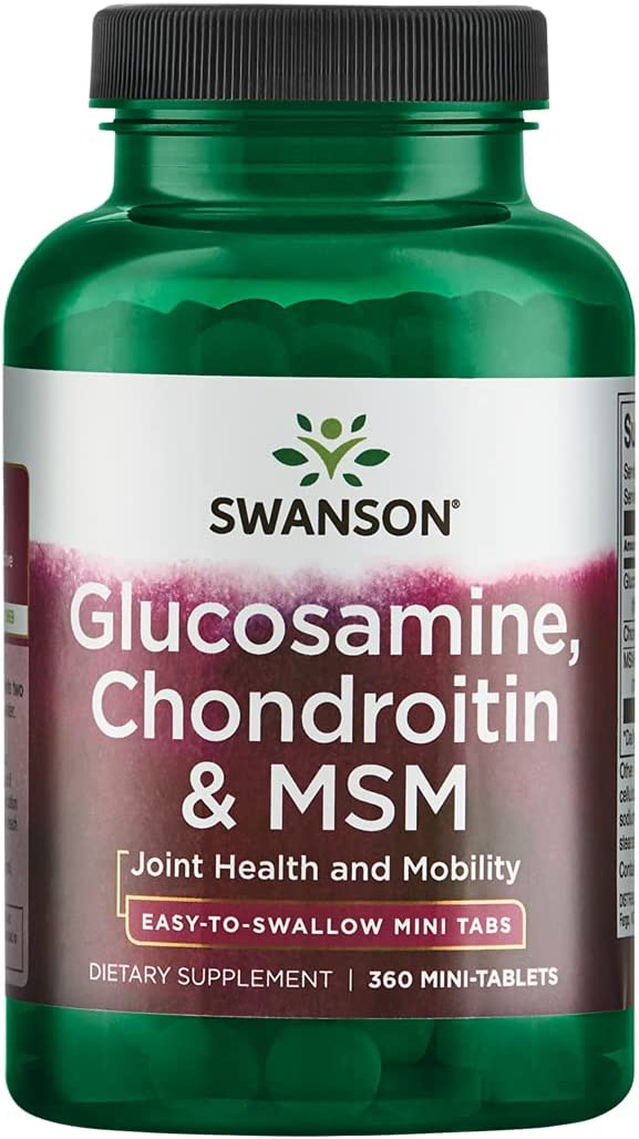 Swanson Mini-Tabs Glucosamine Chondroitin F Mobility Joint Beauty New Shipping Free Shipping products Msm
