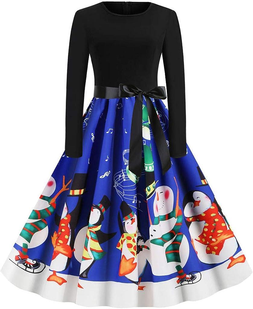 KYLEON_Christmas Dresses for Overseas parallel import regular item Women Sleeve Long Vintage Cocktail Discount mail order