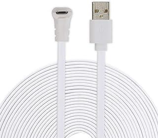Cable micro USB para Arlo Pro 2 BECROWMEU Cable de alimentación para Arlo Pro Cable de carga resistente a la intemperie de 2M/6.6ft para cámaras de seguridad Compatible ARLO PROPRO2GOARLO LIGHT