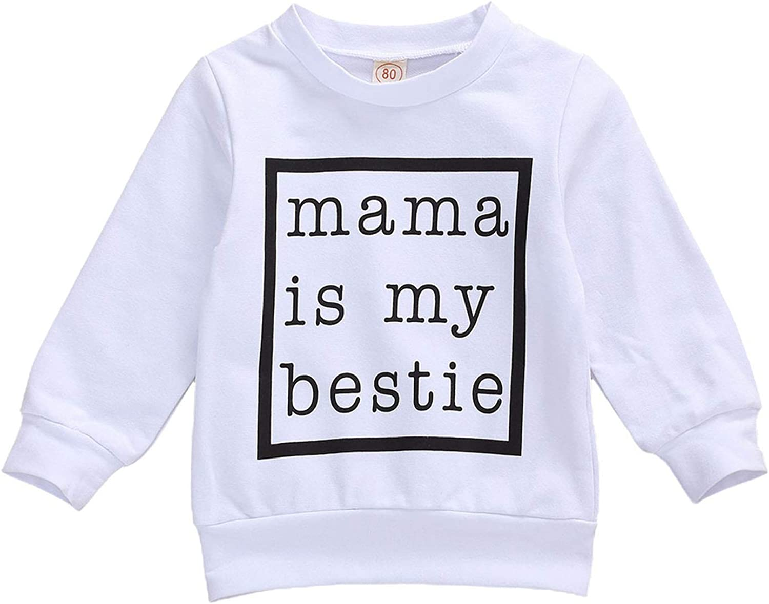 Toddler Baby Girl Boy Letter Print Sweater Long Sleeve Pullover Shirts Sweatshirt Tops Casual Spring Fall Winter Clothes