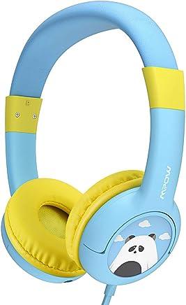 Mpow Casque Audio Enfant CH1 Limiteur de Volume avec Function de Partager Musique et Microphone pour iPad iPod Tablettes iPhone Ordinateurs Portables Android Smartphones PC Ordinateur,18 Mois Garantie