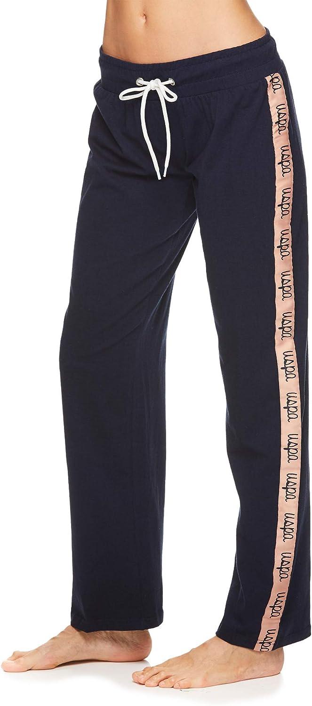 U.S. Polo Assn. Womens Script Logo Super Soft Lounge Pajama Pants
