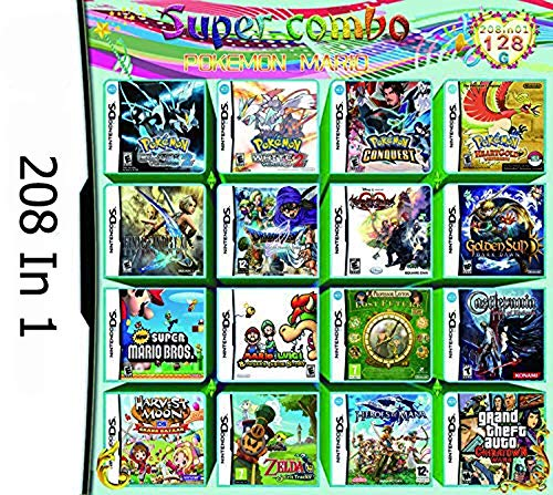 208 Spiele in 1 NDS Game Castlevania super Mario Fin Spielekarte für DS NDS NDSL NDSi 3DS 2DS XL