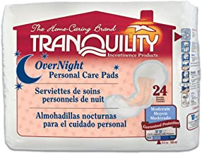 Tranquility Incontinence Personal Care Pads for Men or Women - Overnight - 96 ct