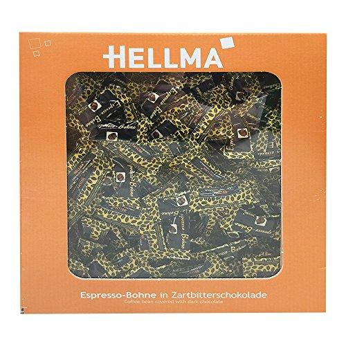 HELLMA 70000174 Espresso-Bohnen in Zartbitterschokolade, im Karton
