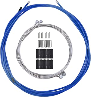 Netspower Cable de Freno de Bicicleta, Cable Universal Bowden Cable de Freno de Bicicleta de Carretera Accesorios para Bicicleta Juego de Cables y Tapas de Cables