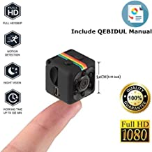 Spy Camera Hidden, QEBIDUL Portable Full HD 1080p Mini Wireless Nanny Infrared Night Vision Motion Activated Smallest DVR Secret Little Cop Cam For Home Office Security