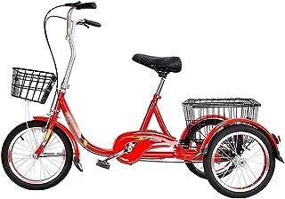 Jlxl 3 Hjulcyklar Vuxna Tricycle Seniorer Tre Cruiser W/Justerbar Handtag Lastkorg Dubbelbromsövning Mäns Kvinnors Comfort...