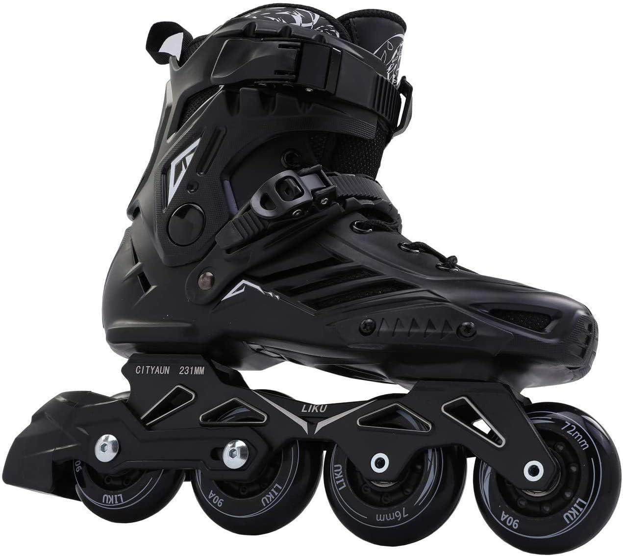 Genuine Free Shipping LIKU Black Professional Inline New York Mall Unisex Skates