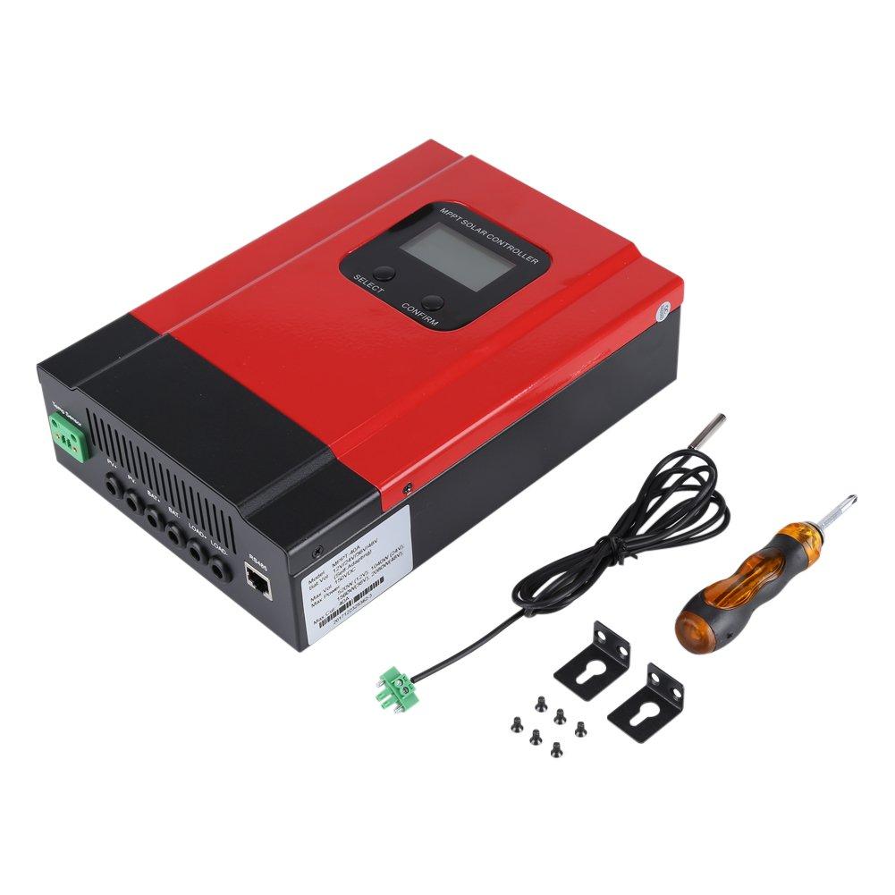 Regulador Solar MPPT -40A Controlador de carga solar MPPT 12V / 24V / 36V / 48V Max Entrada PV 130V DC Regulador de cargador de batería
