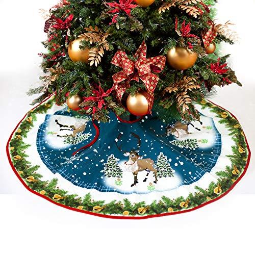 MIFIRE Weihnachtsbaum Rock Weihnachtsbaumdecke Baumdecke Base Cover Rund Ø 90cm für Weihnachtsdeko (Weihnachtsmann)