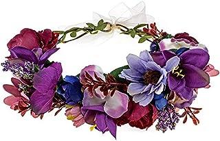 Rapunzel ears Purple flower crown Boho flower crown for girls Bohemian festival crown Festival headpiece Tangled Bounding accessories