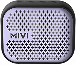 (Renewed) Mivi Roam 2 Wireless Bluetooth Speaker 5W, Portable Speaker with Studio Quality Sound, Powerful Bass, 24 Hours Playtime, Waterproof, Dual Pairing, Bluetooth 5.0 and in-Built Mic with Voice Assistance