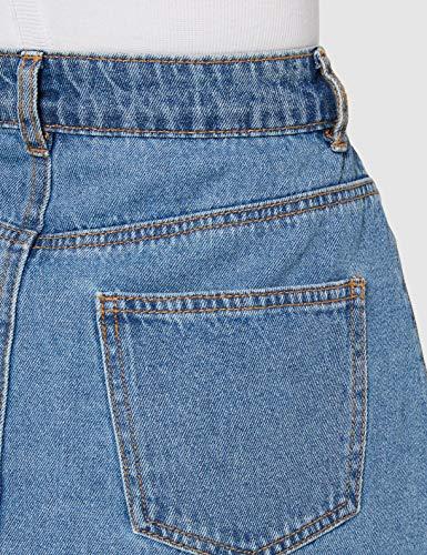 NAME IT Nmsunny Shortdnm Skater Skirt Gu123 Noos Falda, Azul (Medium Blue Denim Medium Blue Denim), 38 (Talla del Fabricante: Small) para Mujer