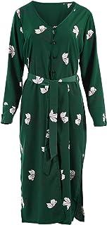 Belle Bird Womens Jackets Belle Green Floral Jacket Dress GreenFlora - Coats
