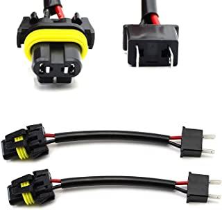 iJDMTOY (2) H7 To 9005/9006/HB4 Pigtail Wire Wiring Harness Adapters Compatible With Headlight Conversion Retrofit