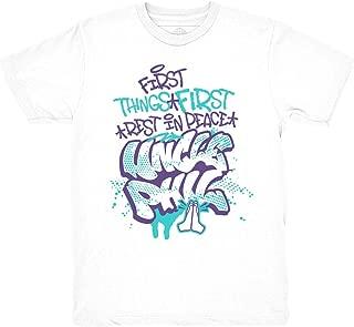Grape 5 Fresh Prince Uncle Phil White Shirt to Match Jordan 5 Grape Fresh Prince Sneakers