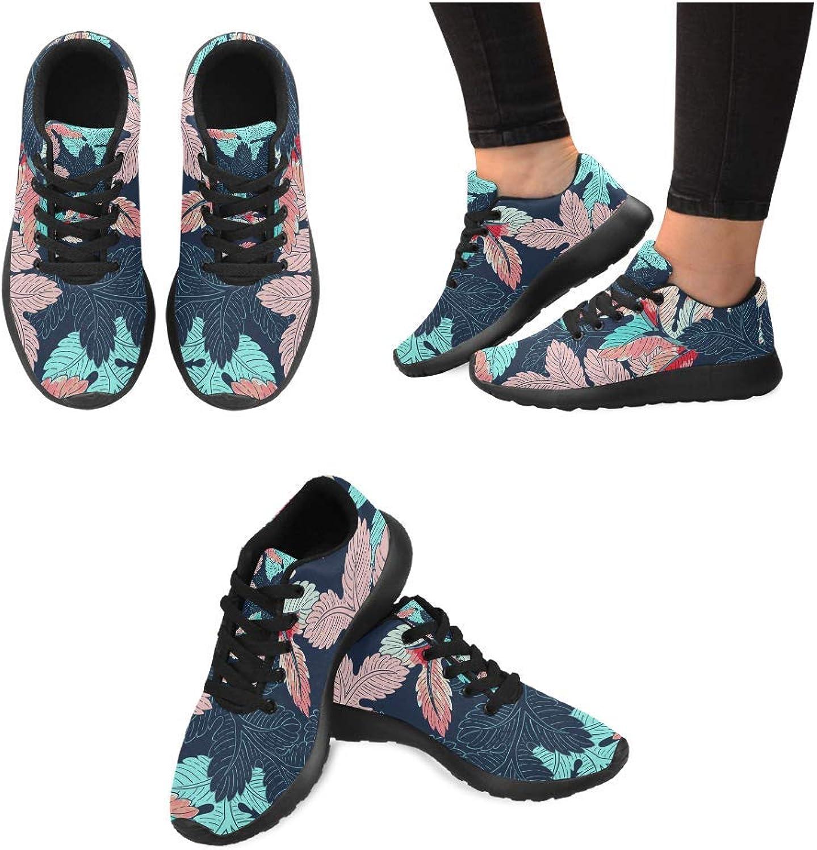 Women Lightweight Casual Sneaker Running shoes Leaves Pattern Prints