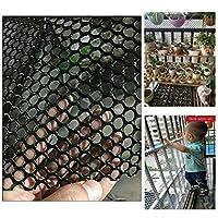 安全ネット 多目的な用途のネット 階段ネット 防護ネット 子供 転落防止網 ブラック屋内バルコニーや階段セーフティネットヘビーデューティ鳥ネッティングのために庭|保護メッシュネット|ガーデン、果樹、ぶどう畑に適し|8ミリメートルメッシュ 怪我防止 危険防止 簡単設置 丈夫 取り付けバンド付属 (Color : Black, Size : 2x10m)