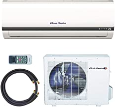 Classic America Ductless Wall Mount Mini Split Inverter Air Conditioner with Heat Pump, 24,000 BTU (2 Ton), 15 SEER 220-230 VAC, Full Set
