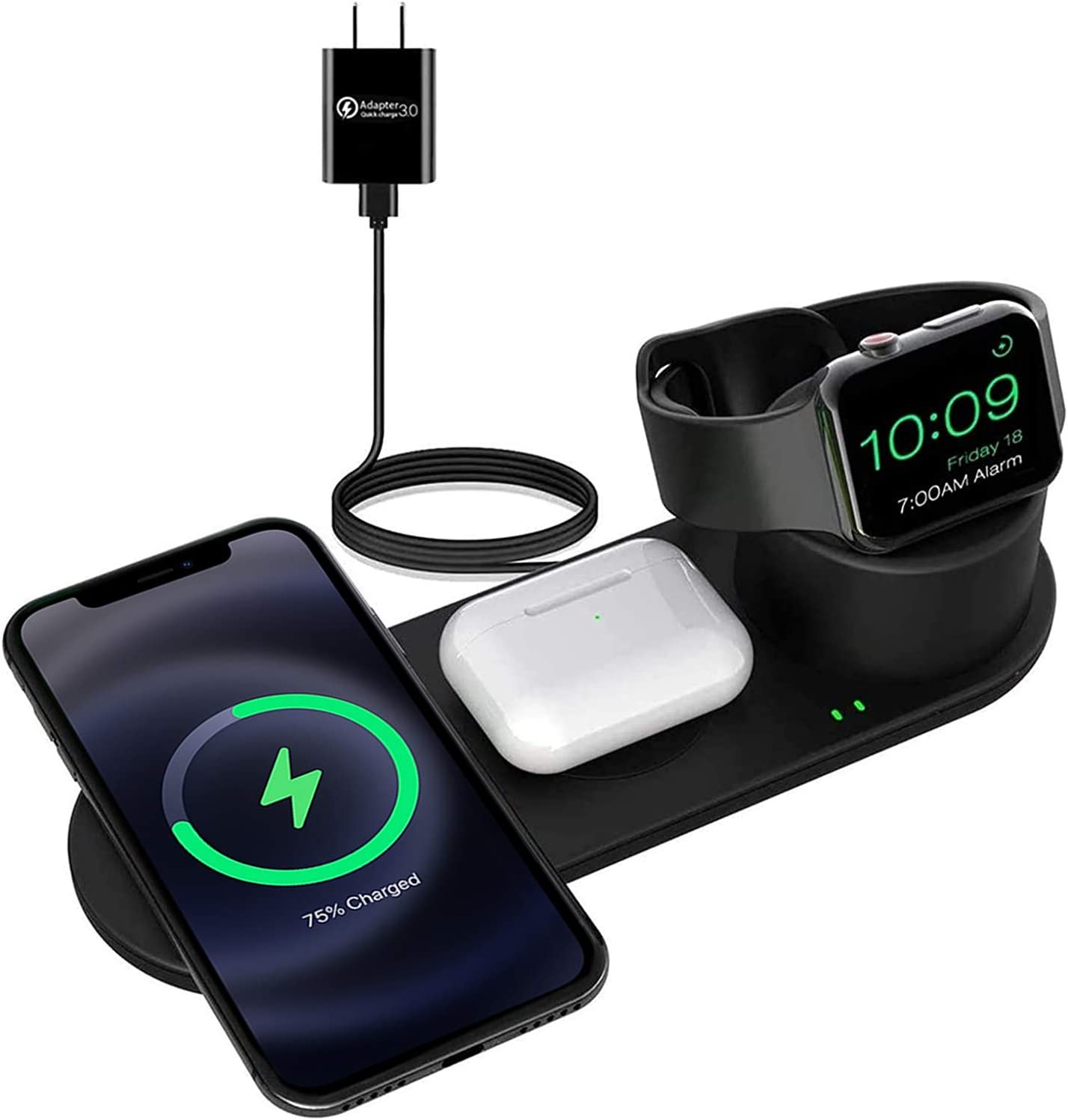 Popular standard Aresh 3 in 1 Wireless Charging Apple Compatible Station SALENEW very popular! Pro with