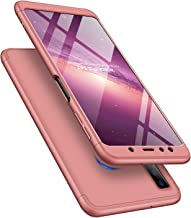 LEECOCO Galaxy Note 9 Case Ultra Thin 3 in 1 360 Degree Full Body Protective Case Premium Slim Shockproof Hard PC Plastic Anti-Scratch Bumper Cover for Samsung Galaxy Note 9 3 in 1 Rose Gold AR